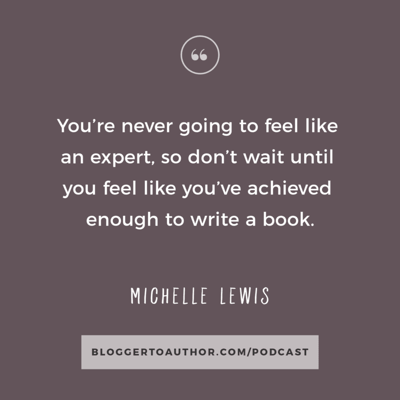 Blogger to Author Podcast Episode 15 with Michelle Lewis