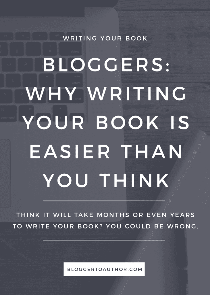 Many people aspire to write a book but don't because they think it's too much work. In many ways, they're absolutely right—writing a book is a lot of work. But bloggers, if you have several quality blog posts under your belt, putting together a book will be much easier than you think.