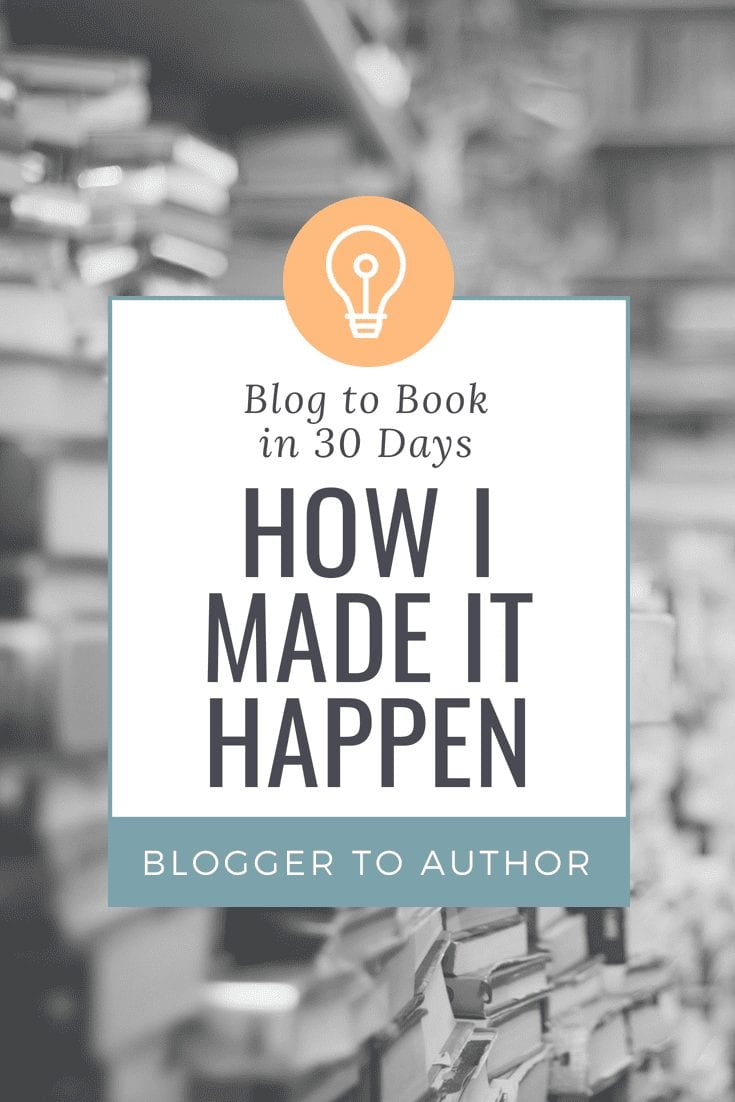 How I wrote and self-published my book in just 30 days by re-purposing my blog's content