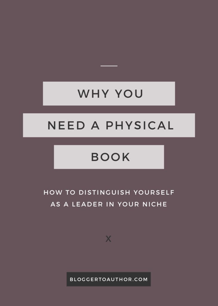 eBook authors: Learn why you should publish your eBook as a full-length physical book to help you set yourself apart from others in your niche.