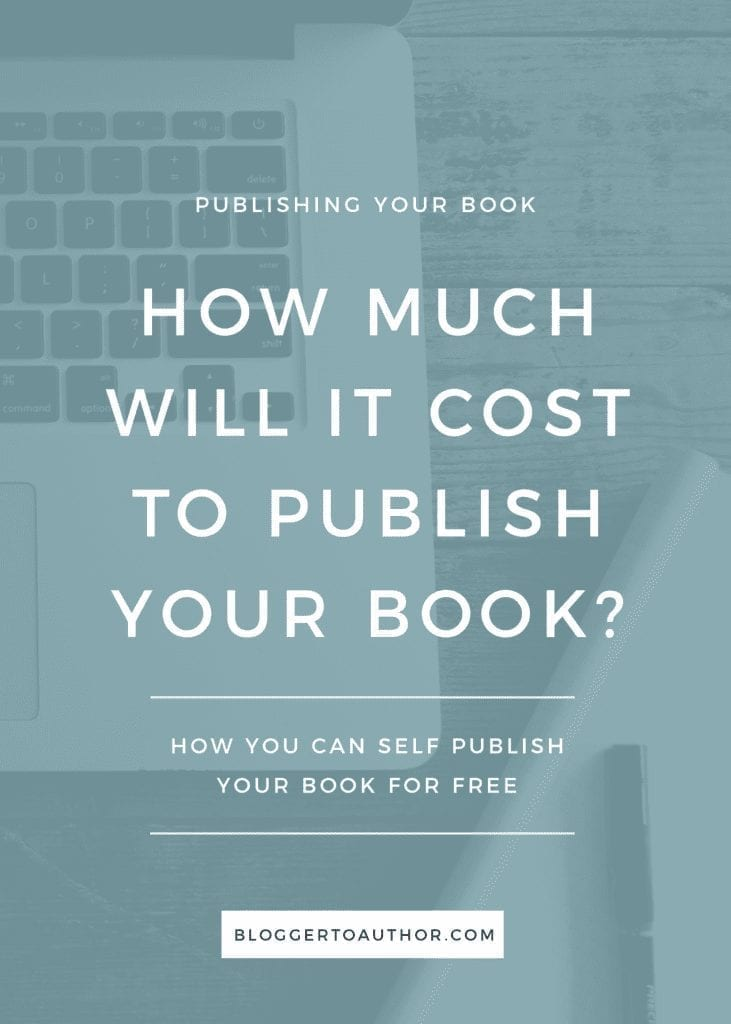 How much does it cost to write a book? A run down of the costs of publishing your book, including how you can self publish your book for free.