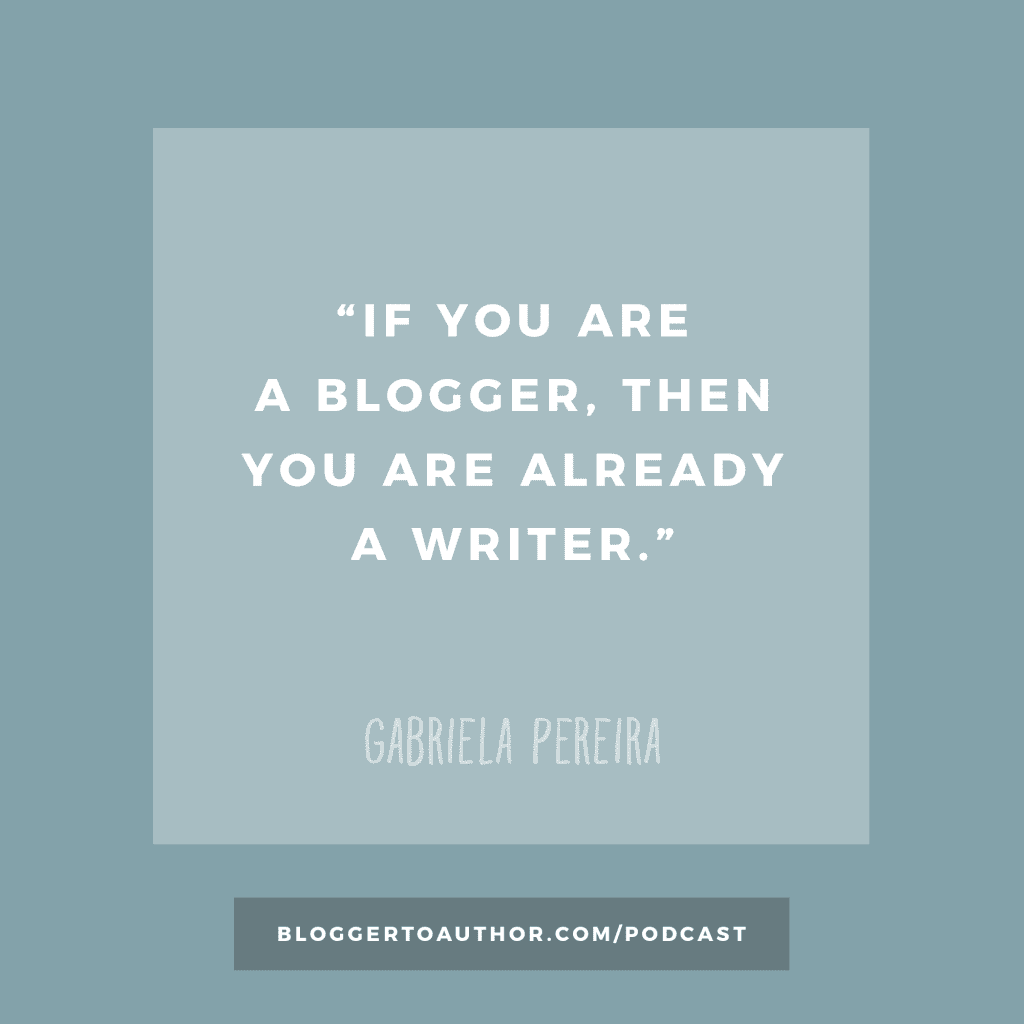 Episode 24 of the Blogger to Author Podcast - You Don't Need an MFA to Be a Writer with Gabriela Pereira